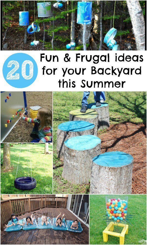 Best ideas about All Backyard Fun . Save or Pin 20 Fun and Frugal ideas for your Backyard this Summer In Now.