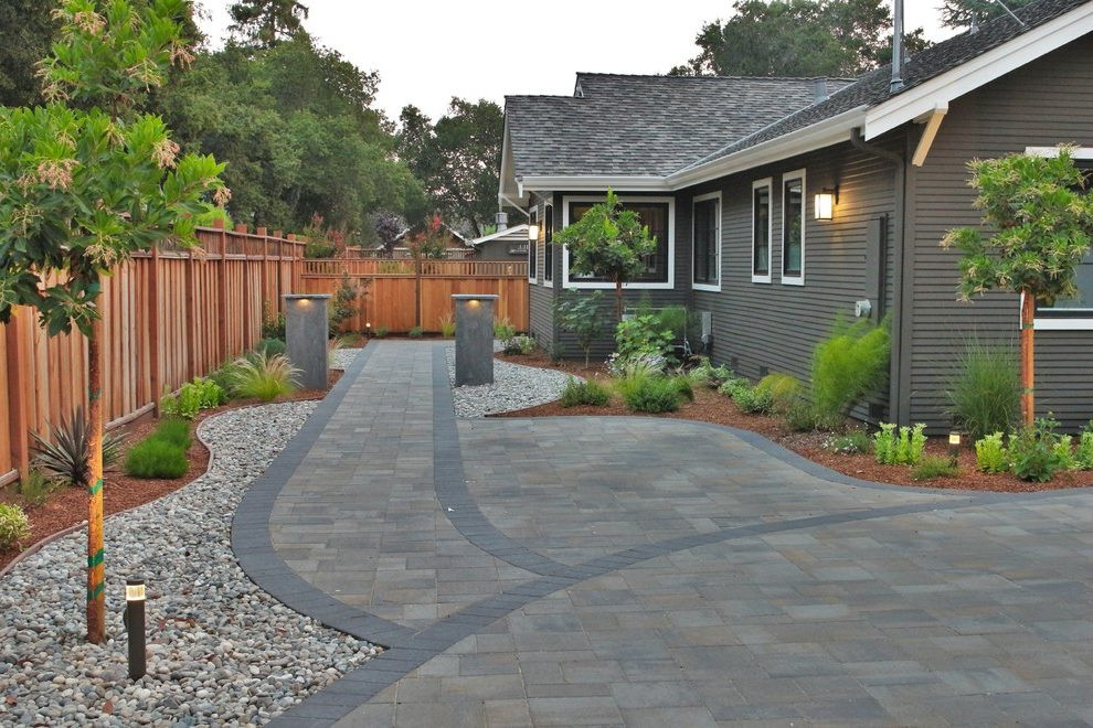 Best ideas about All Backyard Fun . Save or Pin brick privacy fence transitional all backyard fun with san Now.