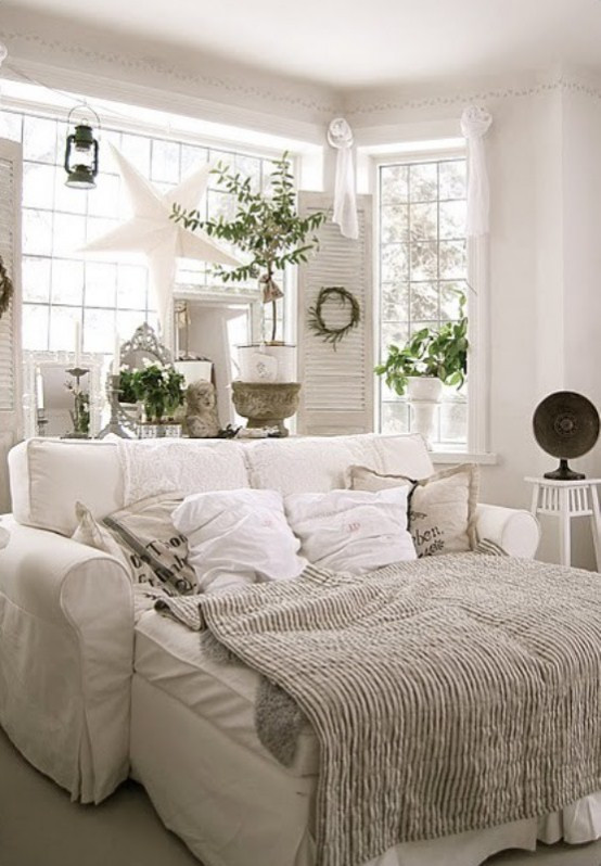 """Best ideas about All White Bedroom . Save or Pin 45 """"All In White"""" Interior Design Ideas For Bedrooms Now."""