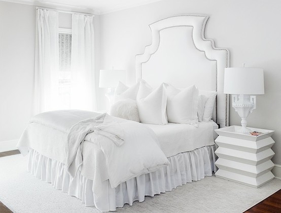Best ideas about All White Bedroom . Save or Pin The Glam Pad Glamorous White Bedrooms Now.