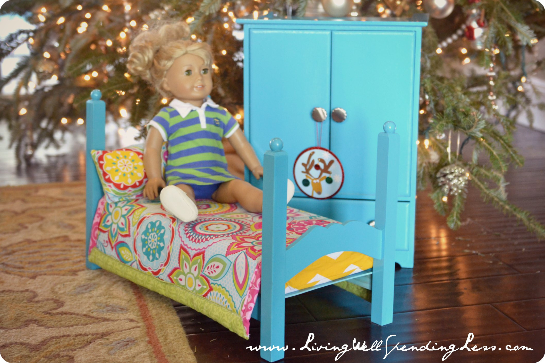 Best ideas about American Girl Doll Furniture DIY . Save or Pin DiY American Girl Doll Bed Part 2 Living Well Spending Now.