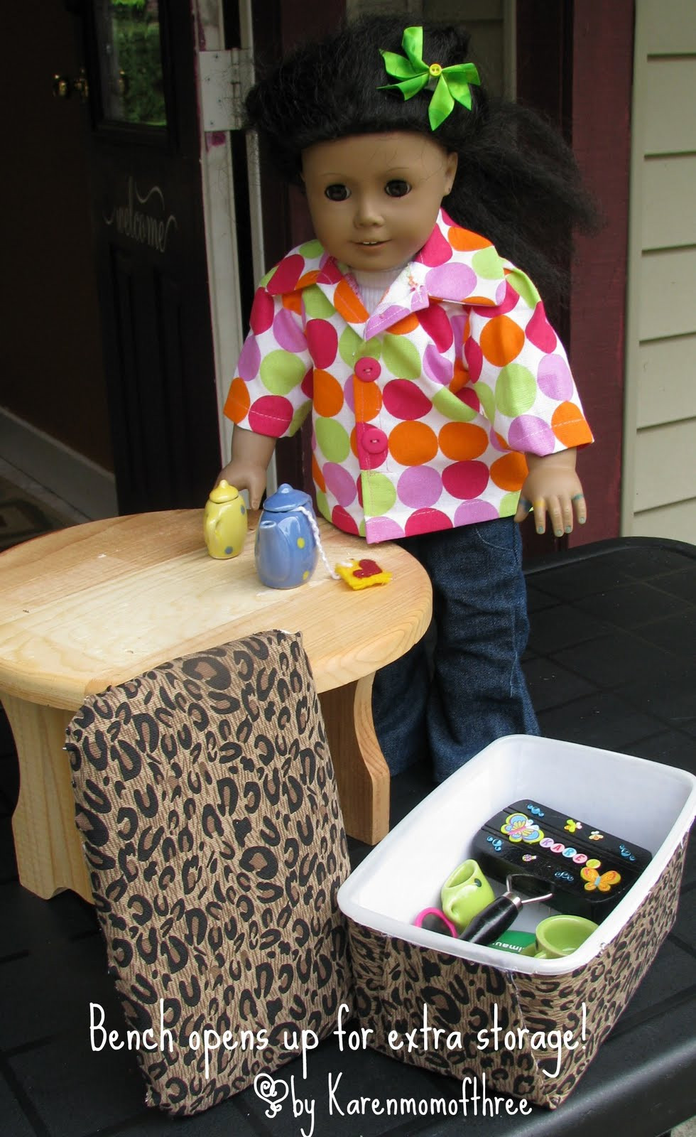 Best ideas about American Girl Doll Furniture DIY . Save or Pin American Girl DIY Furniture Karen mom of three s Now.