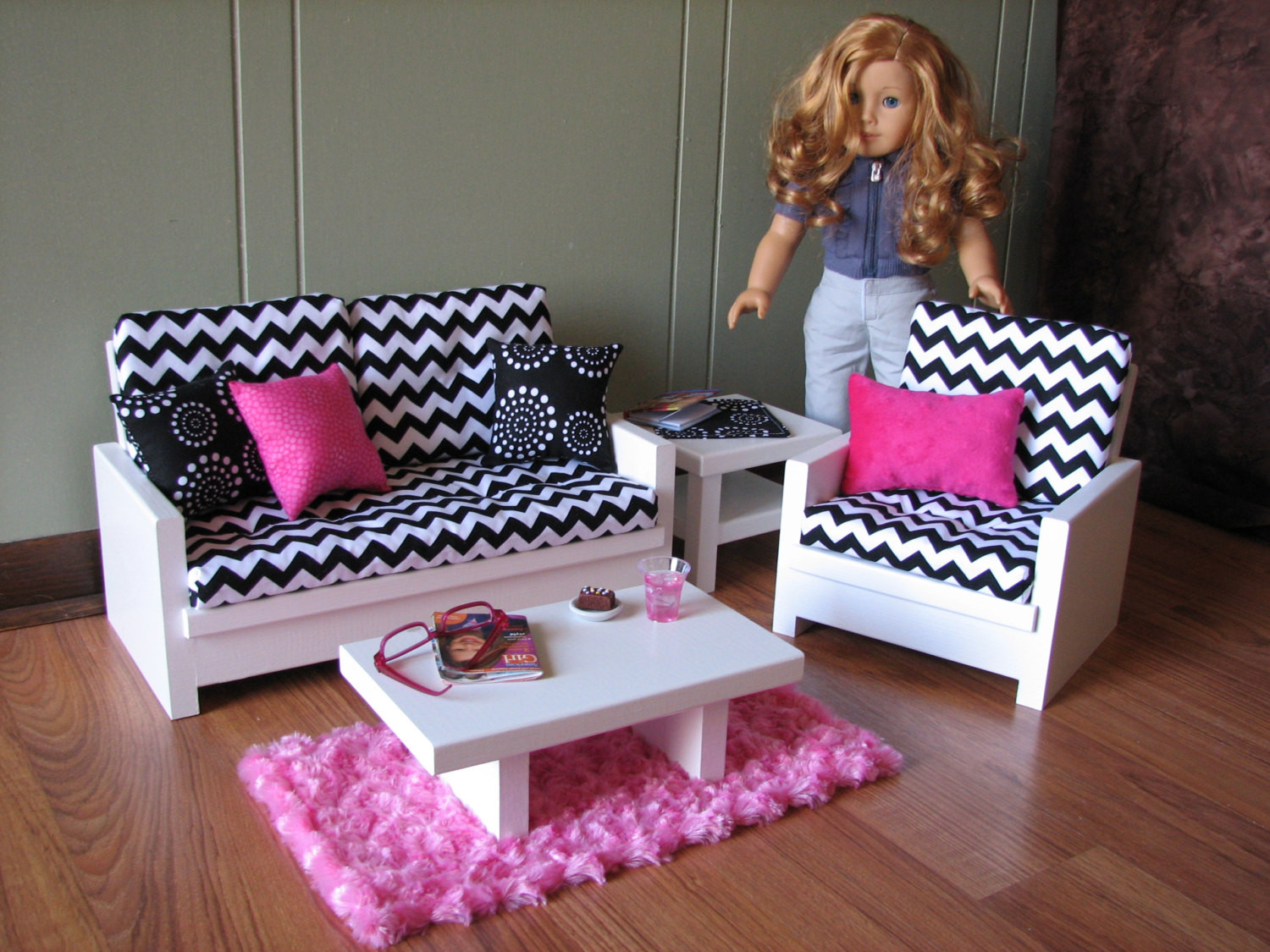 Best ideas about American Girl Doll Furniture DIY . Save or Pin 18 Doll Furniture American Girl sized Living Room Now.