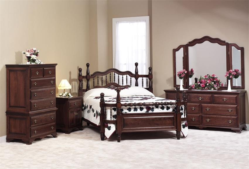 Best ideas about Amish Bedroom Furniture . Save or Pin Amish Wrap Around Bedroom Furniture Set Now.