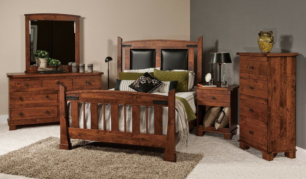 Best ideas about Amish Bedroom Furniture . Save or Pin Luxury Amish Bedroom Set 5 Pc Mission Rustic Larado Solid Now.