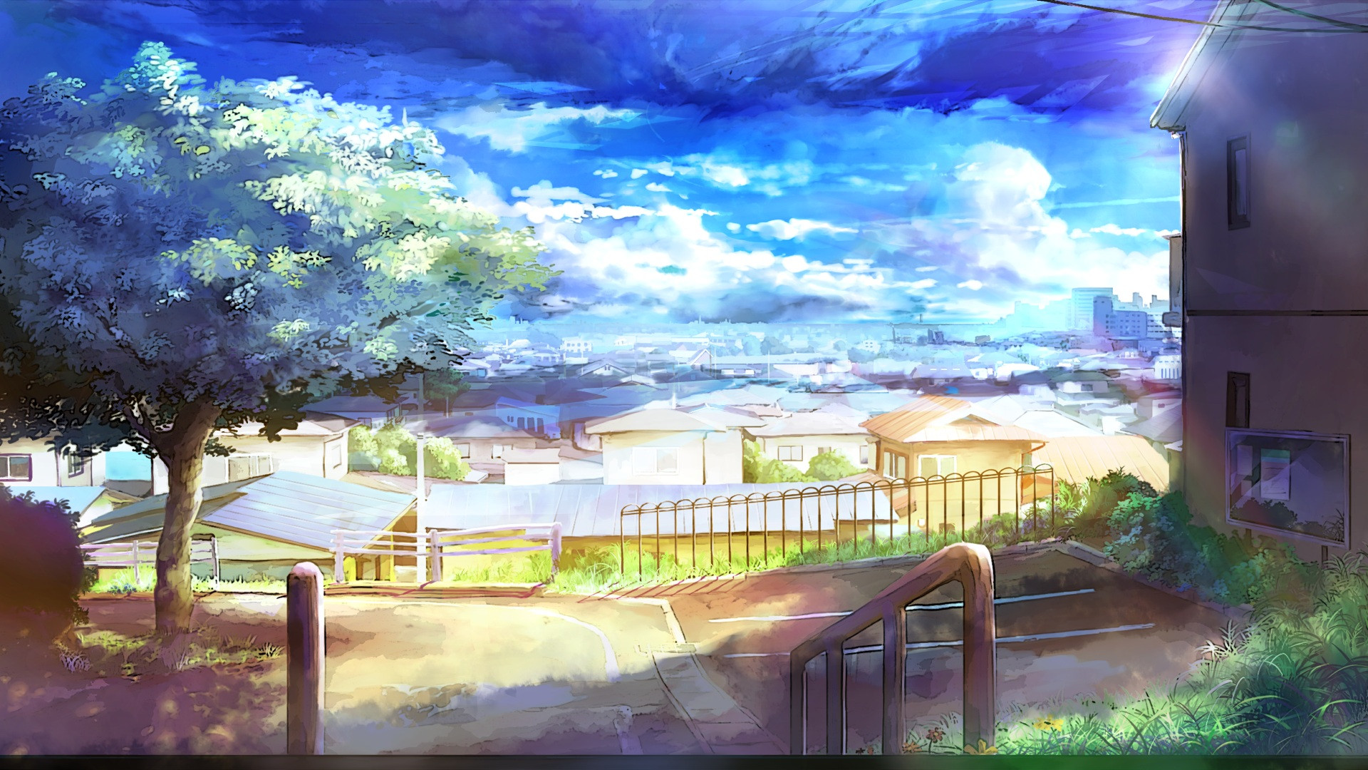 Best ideas about Anime Landscape Wallpaper . Save or Pin Anime Landscape Now.