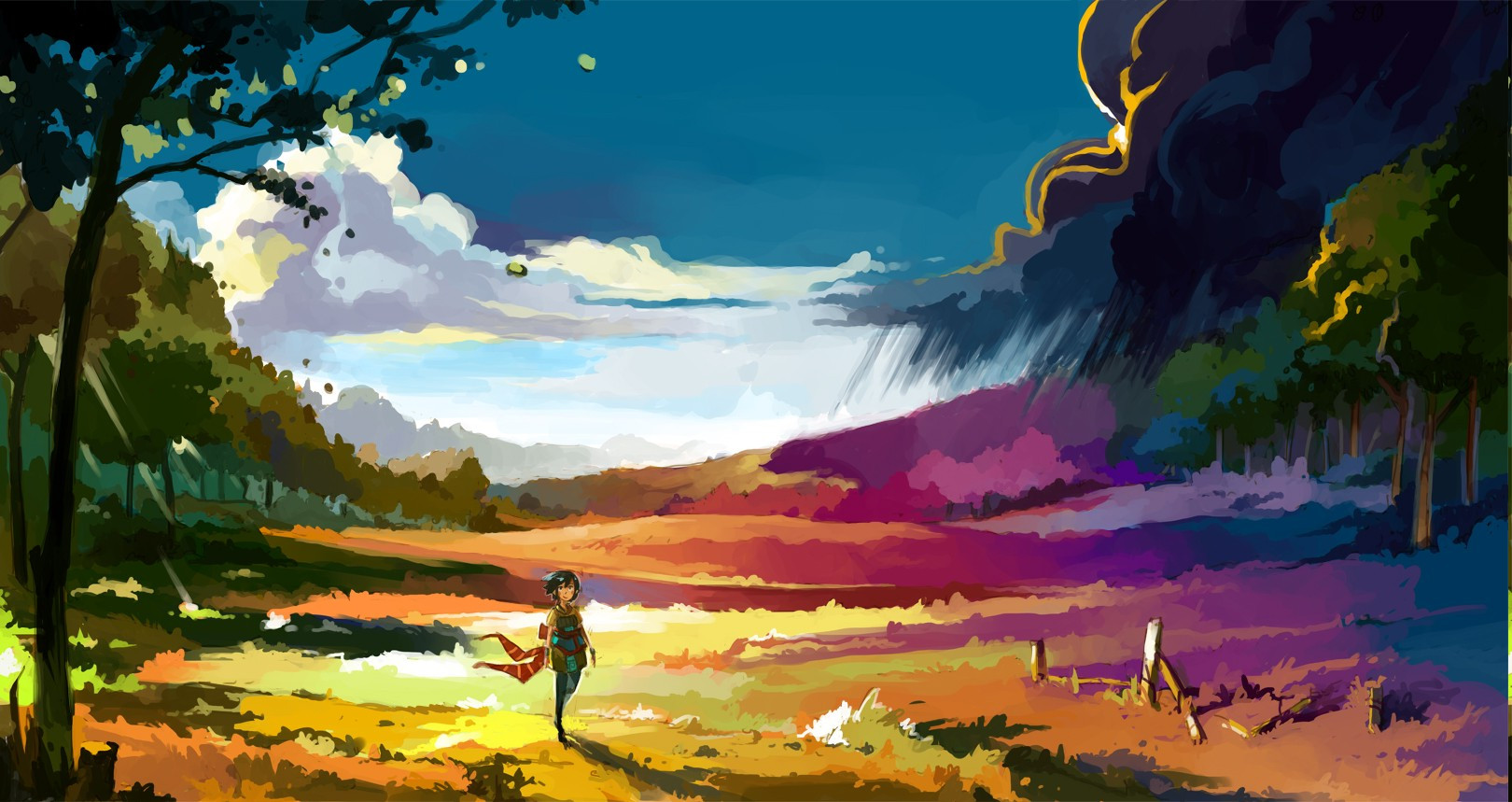 Best ideas about Anime Landscape Wallpaper . Save or Pin anime Landscape Colorful Wallpapers HD Desktop and Now.