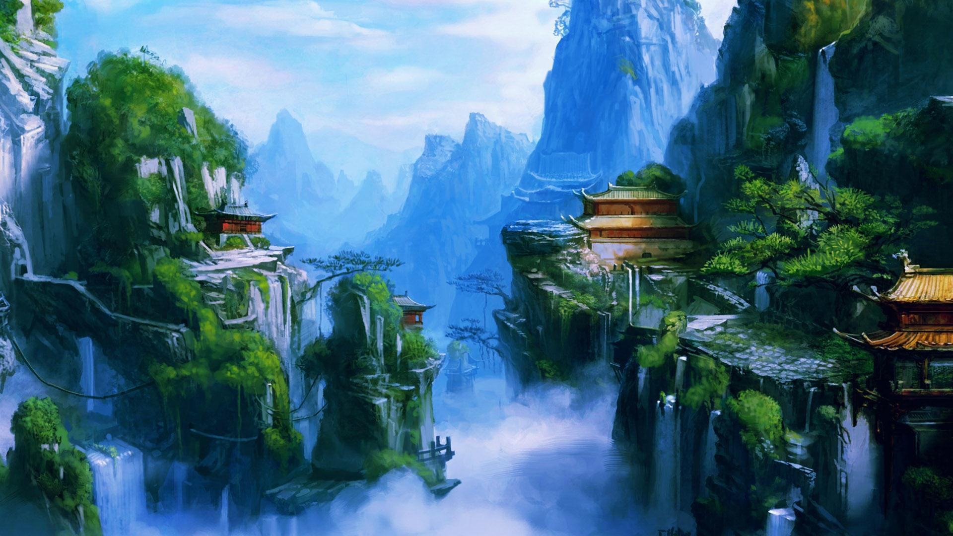 Best ideas about Anime Landscape Wallpaper . Save or Pin Free Fantasy Landscape Backgrounds Now.