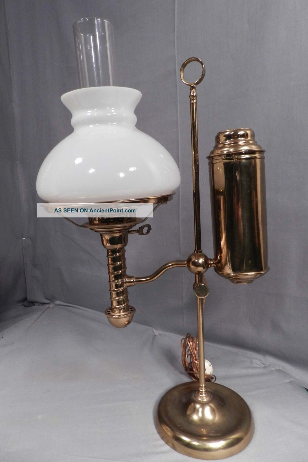 Best ideas about Antique Desk Lamp . Save or Pin Antique brass desk lamp offers a dignified friendly look Now.