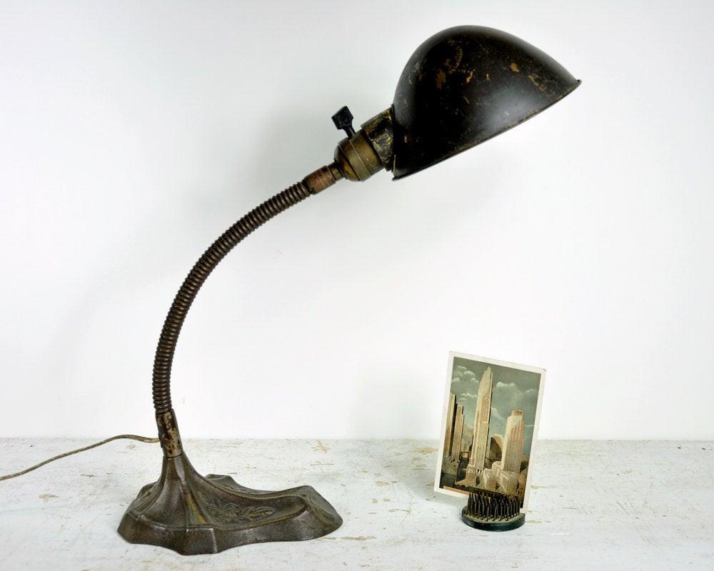 Best ideas about Antique Desk Lamp . Save or Pin Vintage Desk Lamp Industrial Light Gooseneck Lamp Now.