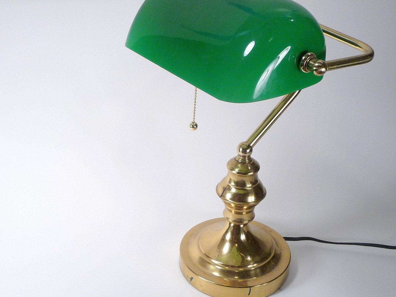 Best ideas about Antique Desk Lamp . Save or Pin Antique Brass Banker Desk Lamp Now.