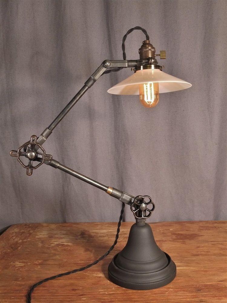 Best ideas about Antique Desk Lamp . Save or Pin Vintage Industrial Desk Lamp Machine Age Task Light Now.