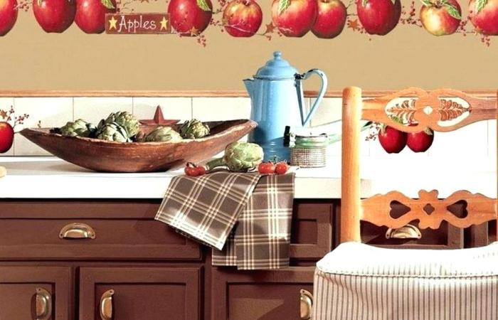 Best ideas about Apple Kitchen Decor Cheap . Save or Pin Apples Big Wall Decals Country Stars Border Kitchen Apple Now.