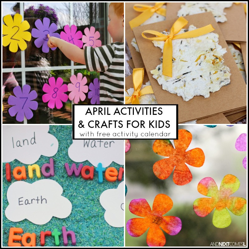 Best ideas about April Crafts For Kids . Save or Pin 30 April Activities for Kids Free Activity Calendar Now.
