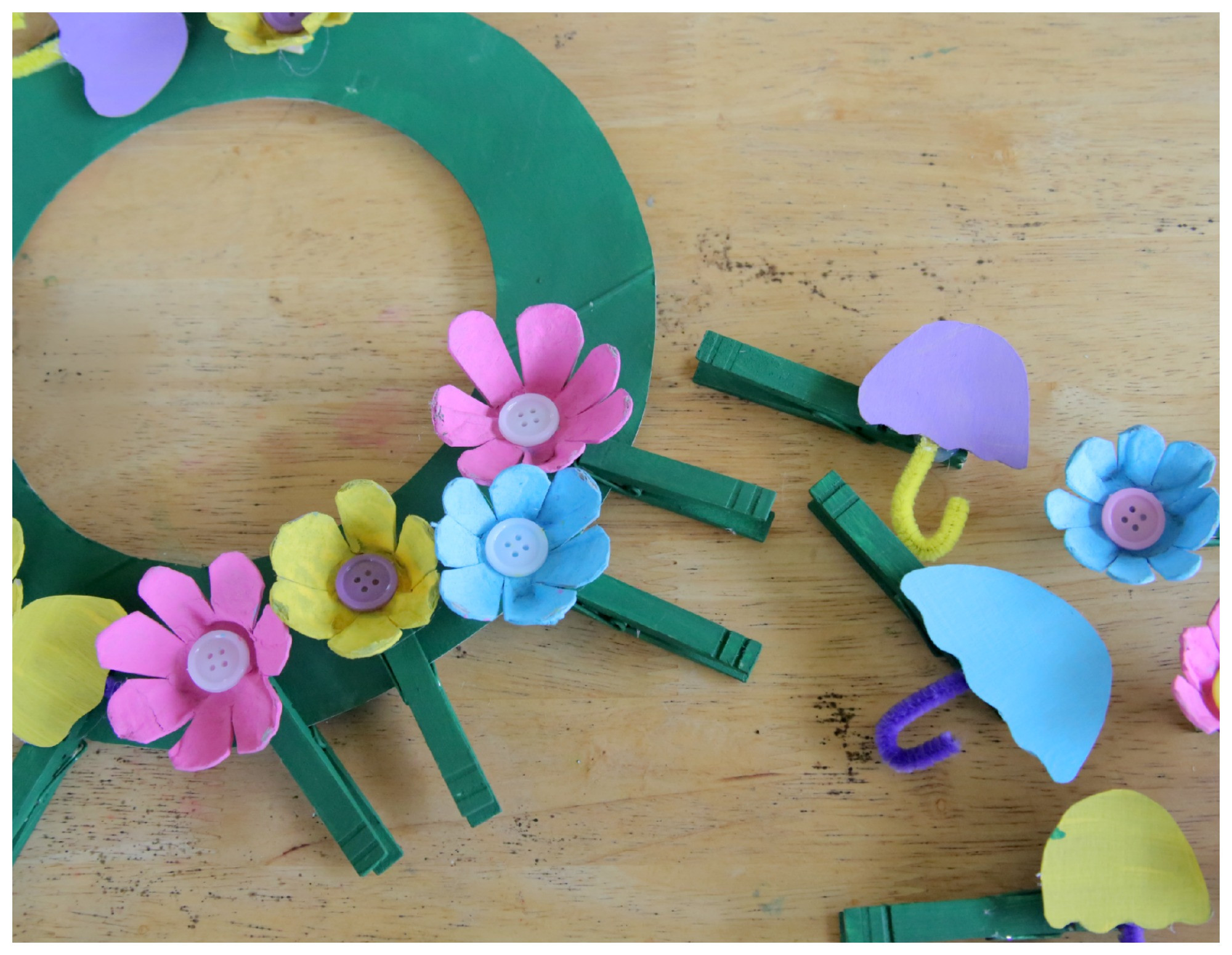 Best ideas about April Crafts For Kids . Save or Pin Recycled Craft April Showers Bring May Flowers Clothespin Now.
