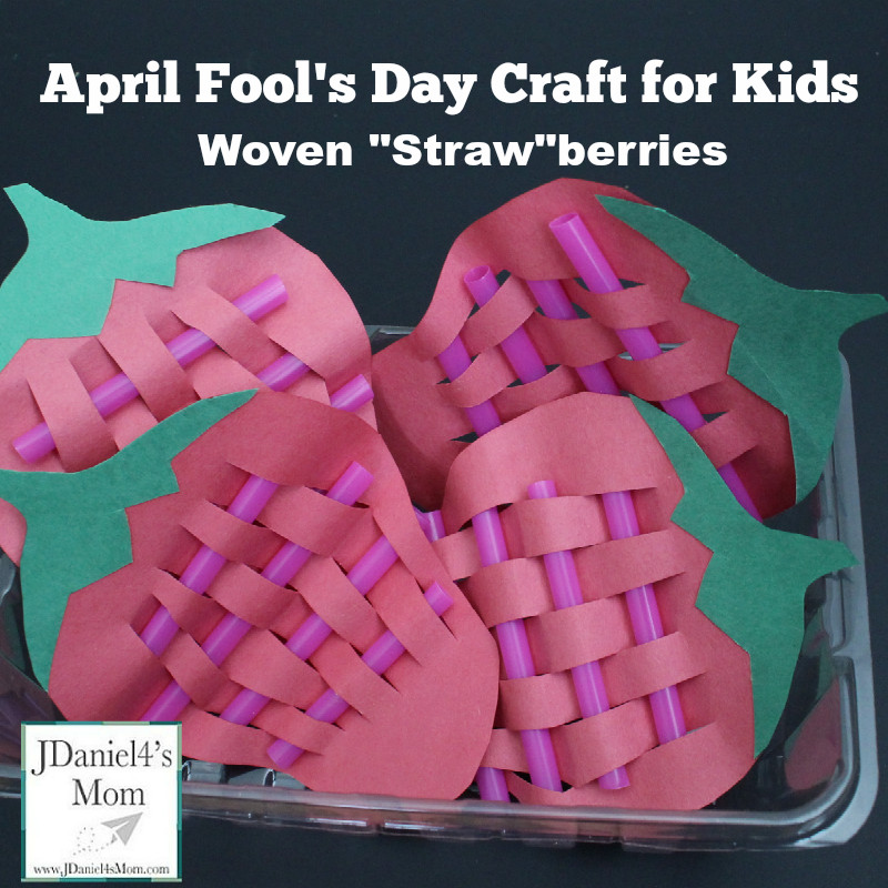 Best ideas about April Crafts For Kids . Save or Pin April Fools Day for Kids Woven Strawberries Now.