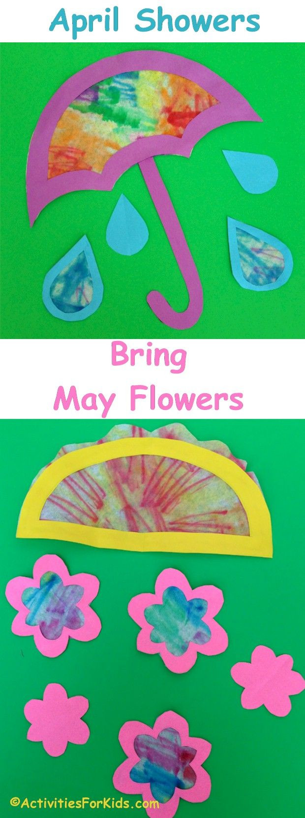 Best ideas about April Crafts For Kids . Save or Pin 122 best images about April showers bring May flowers Now.