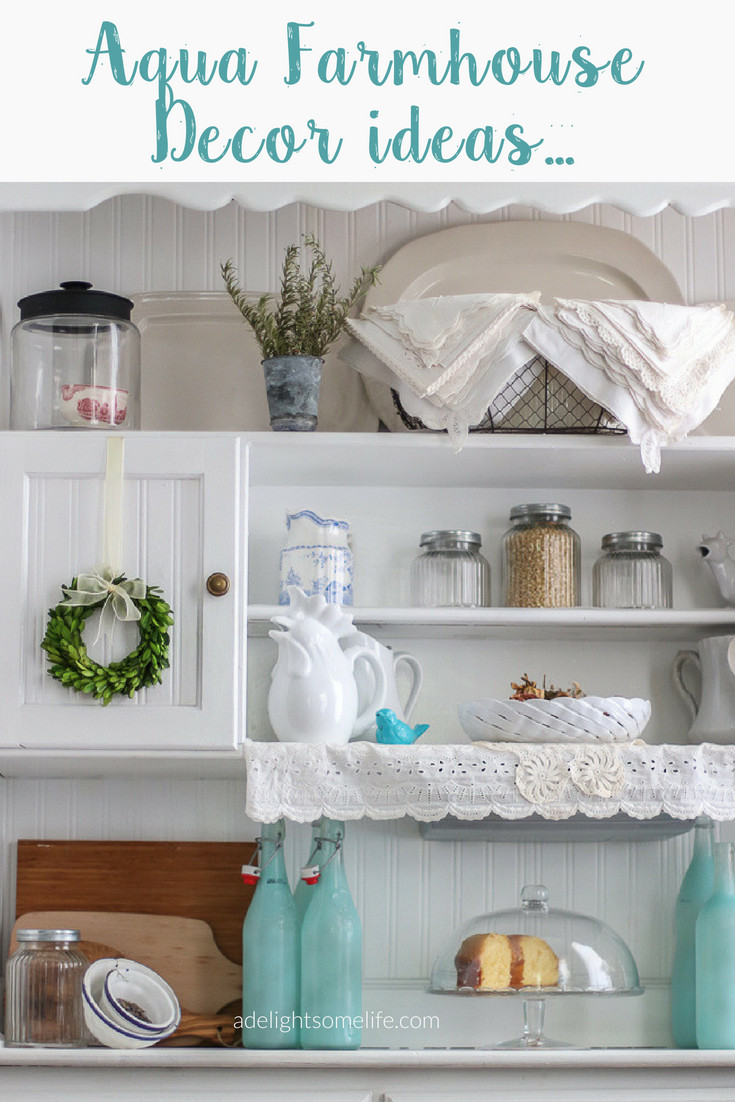 Best ideas about Aqua Kitchen Decor . Save or Pin Simple Redecorating in the Kitchen with Shades of Aqua Now.