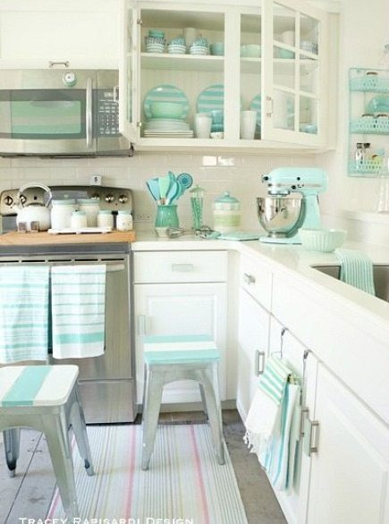 Best ideas about Aqua Kitchen Decor . Save or Pin Heavenly Beach Cottage in Pastel by Tracey Rapisardi Now.