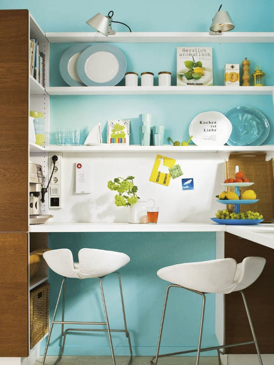 Best ideas about Aqua Kitchen Decor . Save or Pin 2015 Kitchen Ideas with Fascinating Wall Treatment Now.