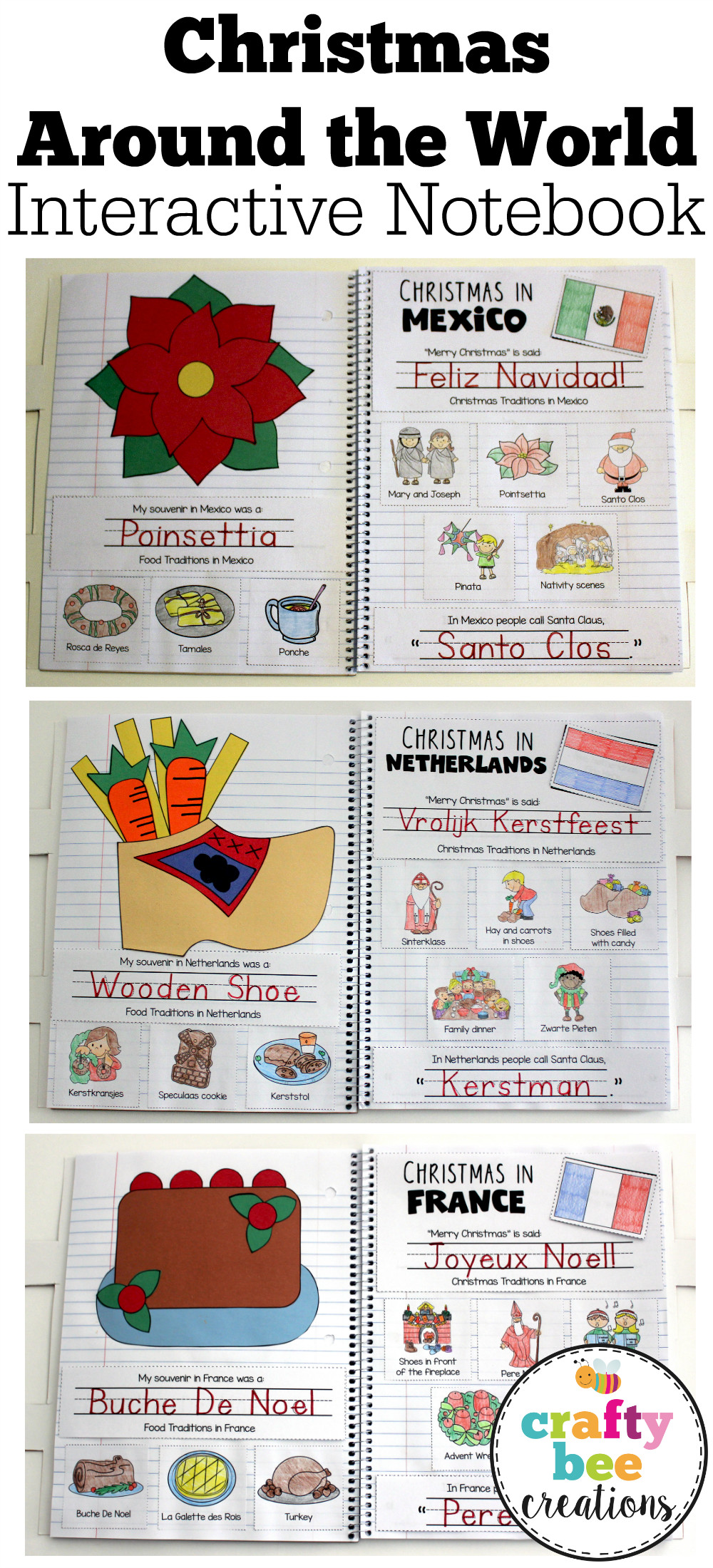 Best ideas about Around The World Crafts For Kids . Save or Pin Christmas Around the World Interactive Notebook Now.