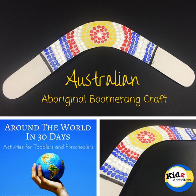Best ideas about Around The World Crafts For Kids . Save or Pin Australian Aboriginal Boomerang Craft Kidz Activities Now.