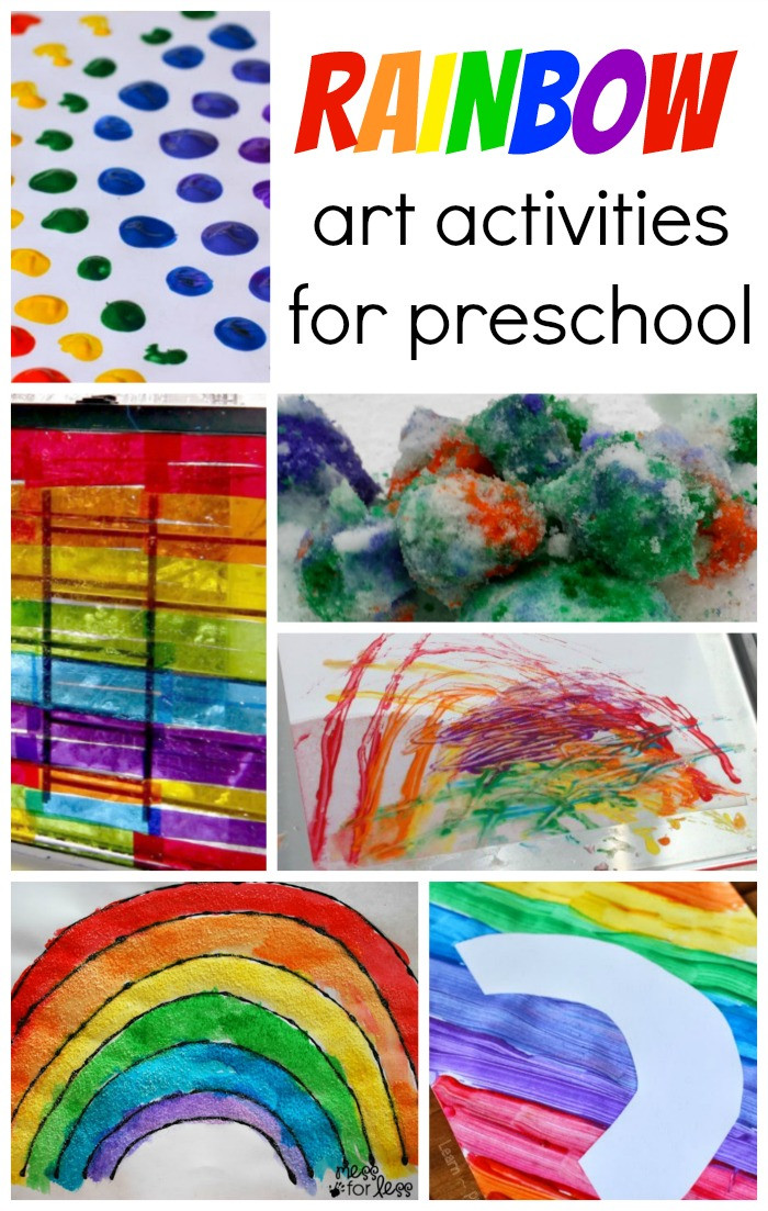 Best ideas about Art Activity For Preschoolers . Save or Pin Rainbow Art Activities for Preschool Now.