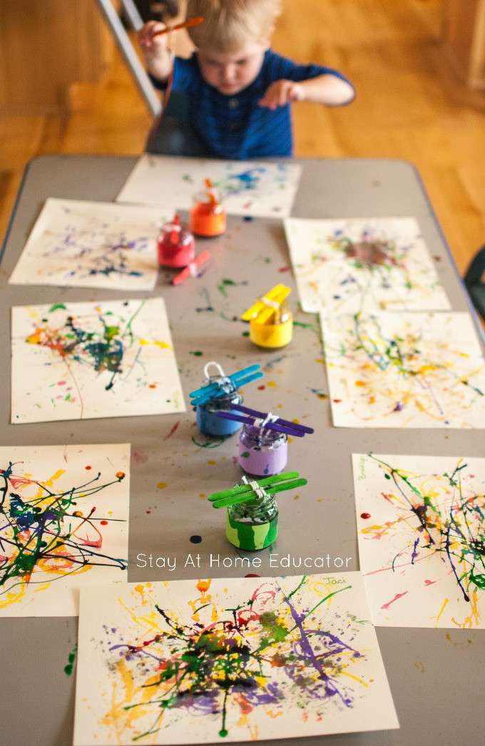 Best ideas about Art Activity For Preschoolers . Save or Pin Painting with Yarn Process Art Activity for Toddlers Now.