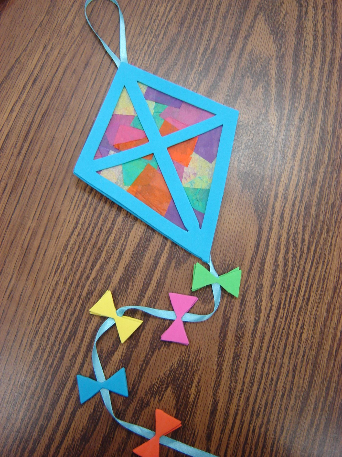 Best ideas about Art And Craft Activities For Preschoolers . Save or Pin Kite Project Perfect Springtime craft For SAC Now.