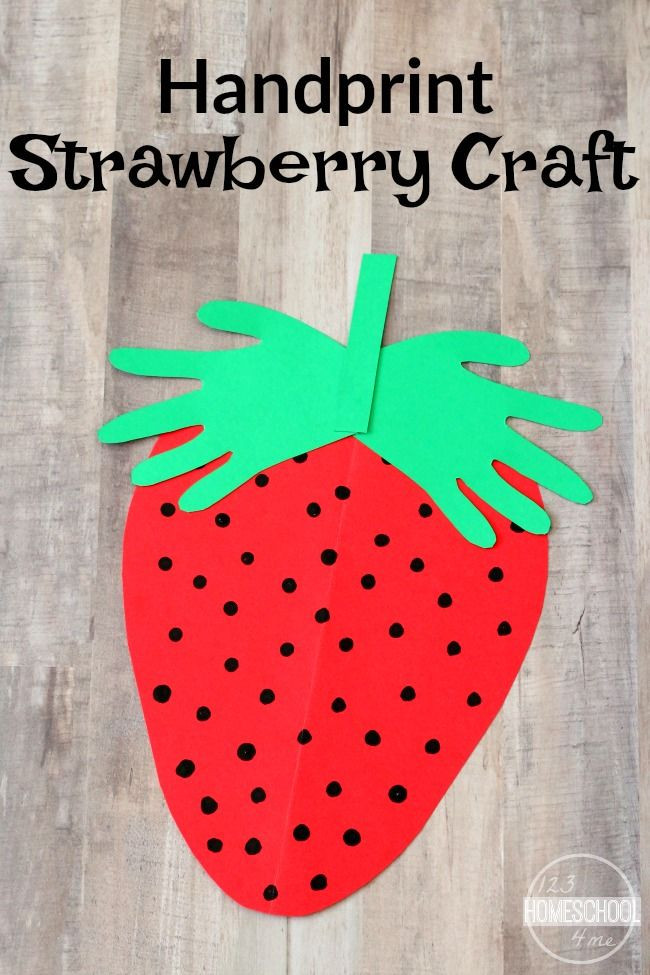 Best ideas about Art And Craft Activities For Preschoolers . Save or Pin Handprint Strawberry Craft Now.