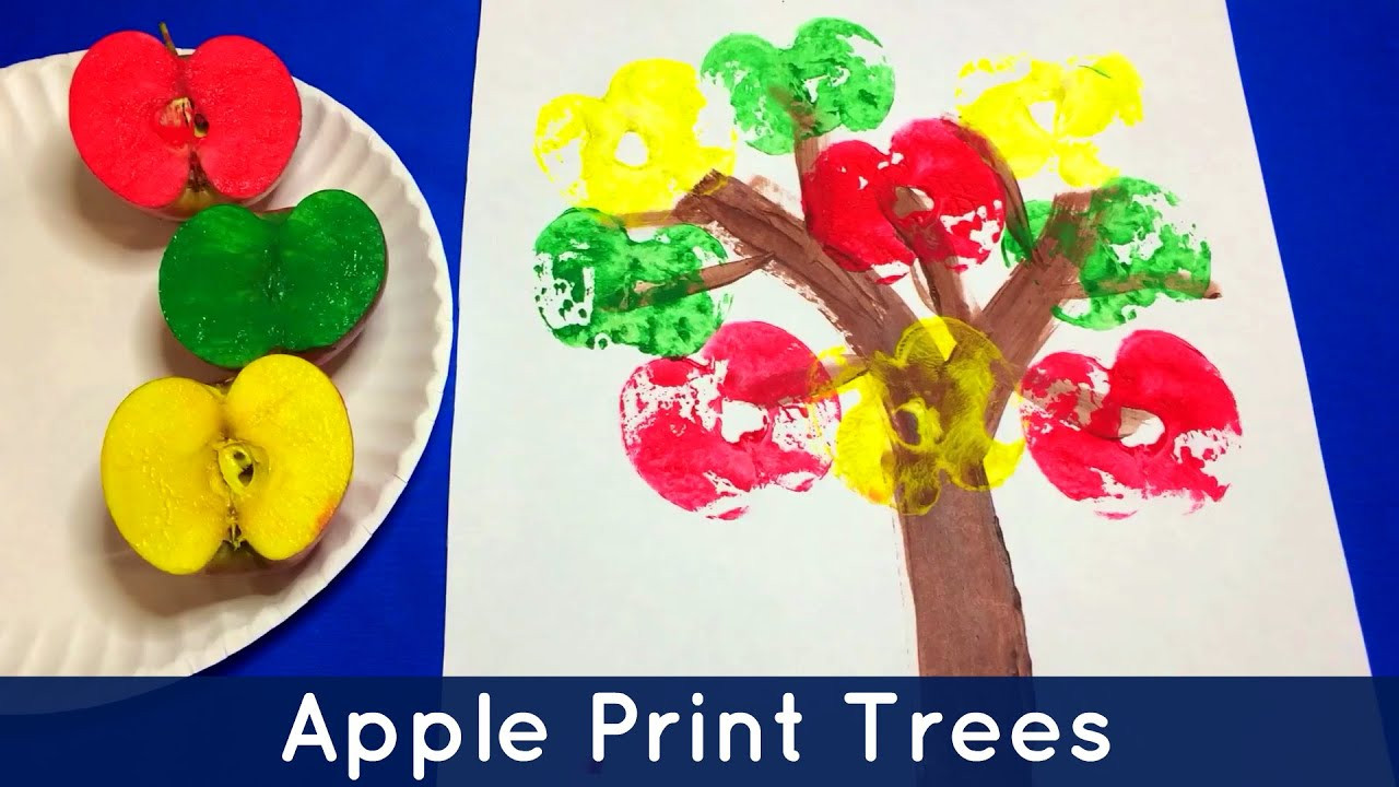 Best ideas about Art And Craft Activities For Preschoolers . Save or Pin Apple Print Trees Preschool and Kindergarten Art Project Now.
