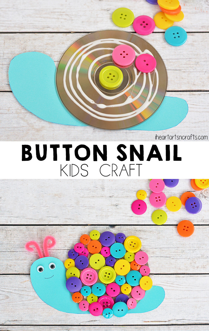 Best ideas about Art Crafts For Kids . Save or Pin Button Snail Craft For Kids I Heart Arts n Crafts Now.