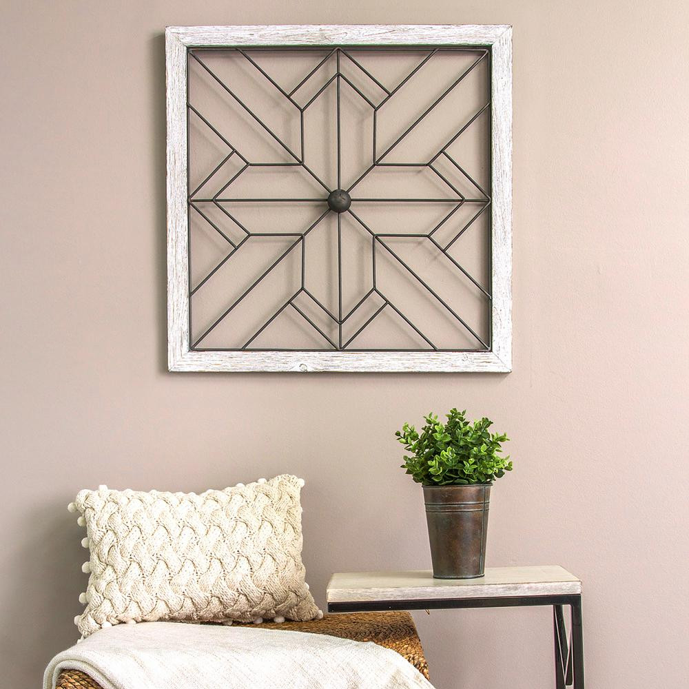 Best ideas about Art Deco Wall Art . Save or Pin Stratton Home Decor Square Metal and Wood Art Deco Wall Now.