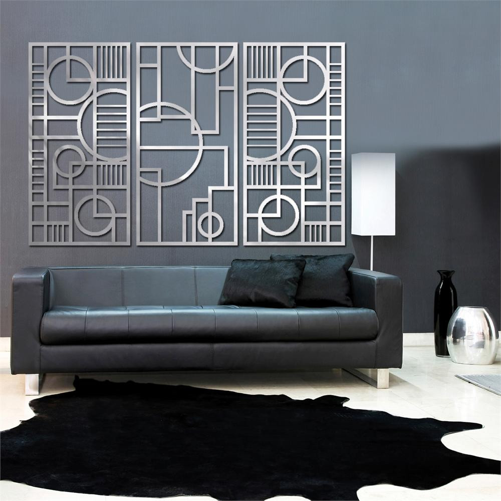 Best ideas about Art Deco Wall Art . Save or Pin Deco Panel TRIO 23 X 46 in Brushed Aluminum Now.