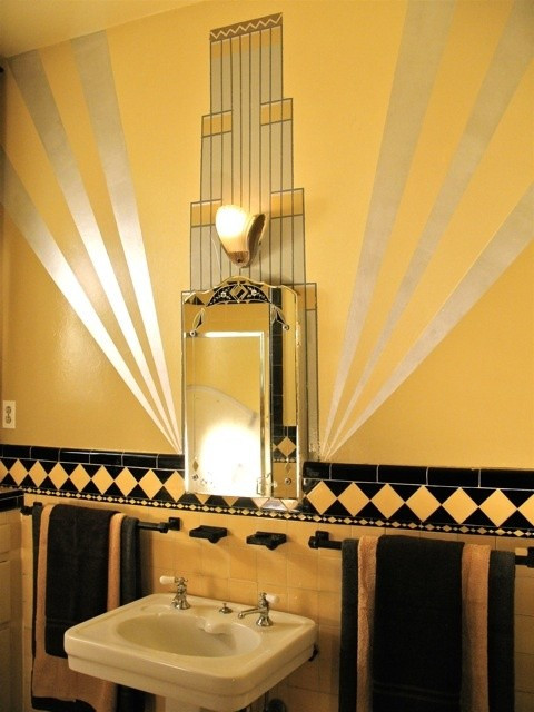 Best ideas about Art Deco Wall Art . Save or Pin 27 Interior Designs with Bathroom Art MessageNote Now.