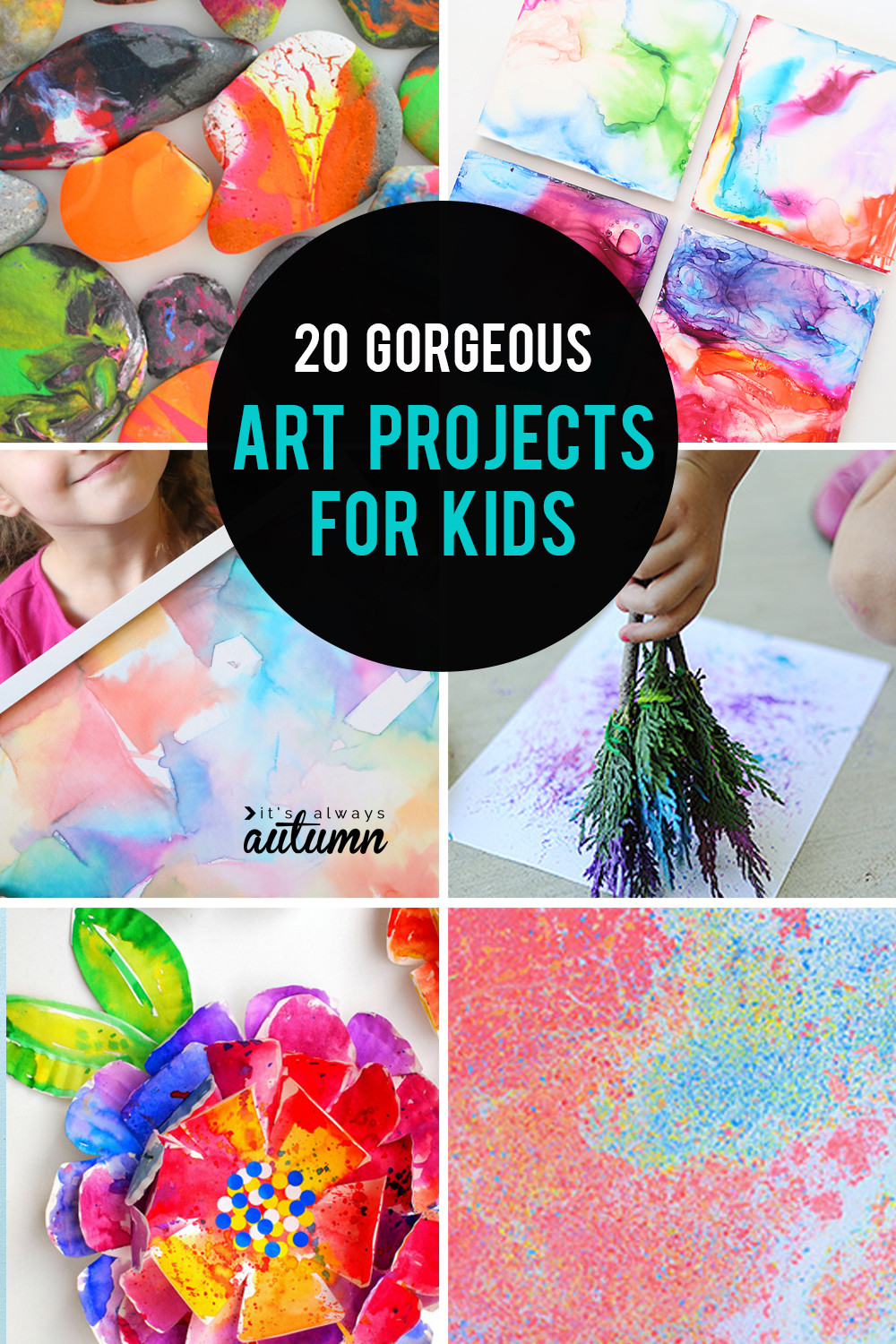 Best ideas about Art Ideas For Kids . Save or Pin 20 kid art projects pretty enough to frame It s Always Now.