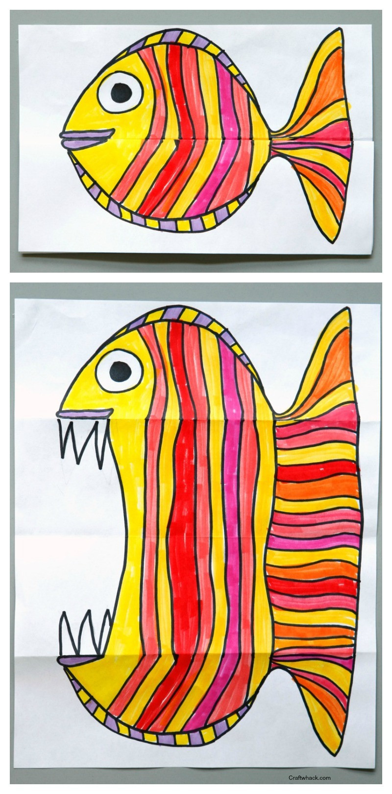 Best ideas about Art Ideas For Kids . Save or Pin Surprise Ferocious Beings Paper Project · Craftwhack Now.