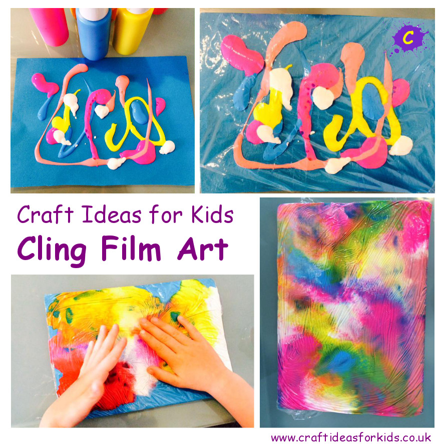 Best ideas about Art Ideas For Kids . Save or Pin Cling Art Craft Ideas for Kids Now.