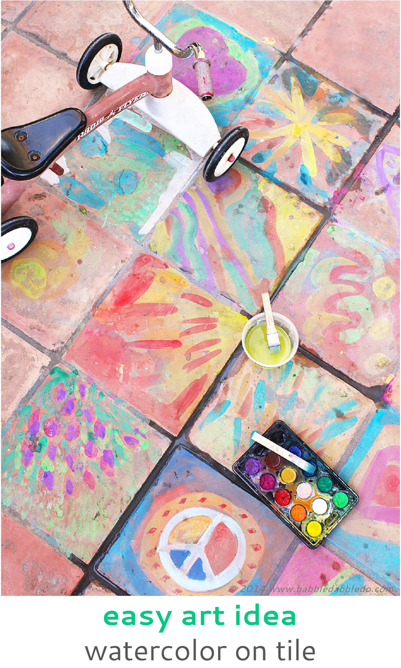 Best ideas about Art Ideas For Kids . Save or Pin Easy Art Ideas for Kids Watercolor on Tile Babble Dabble Do Now.