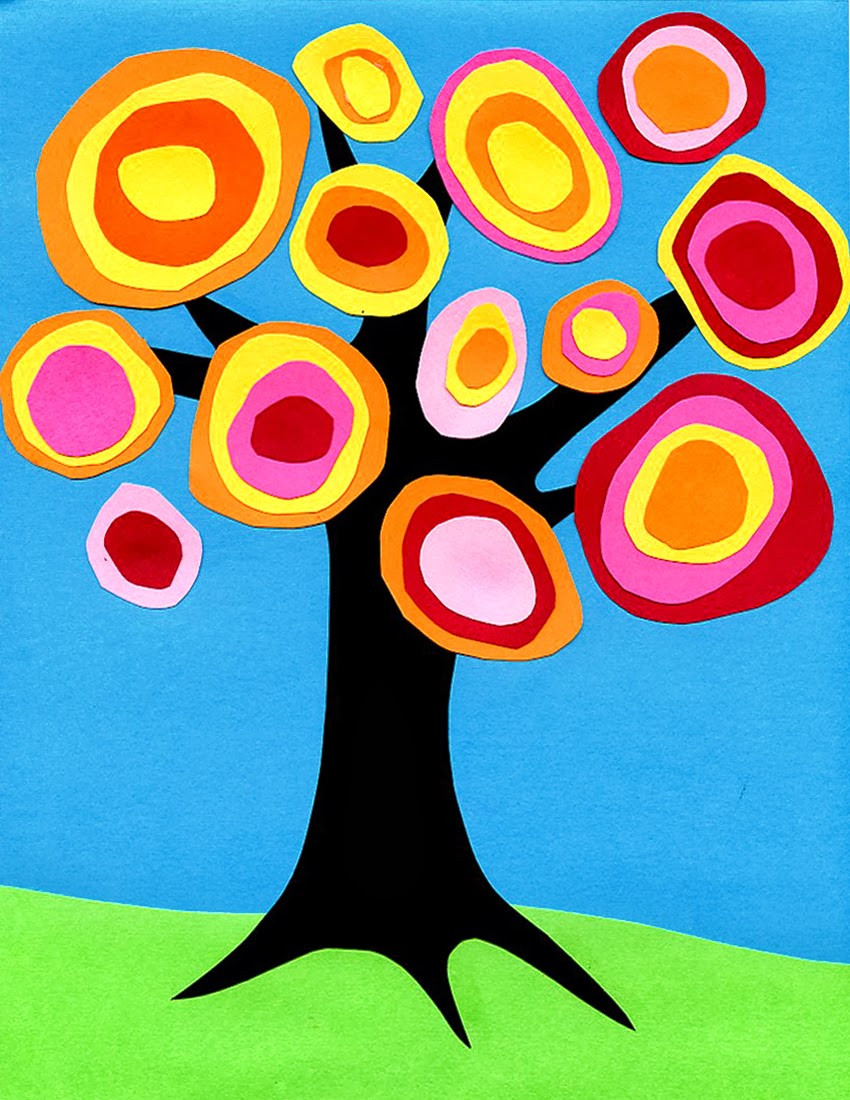 Best ideas about Art Ideas For Kids . Save or Pin Kandinsky Tree Collage · Art Projects for Kids Now.
