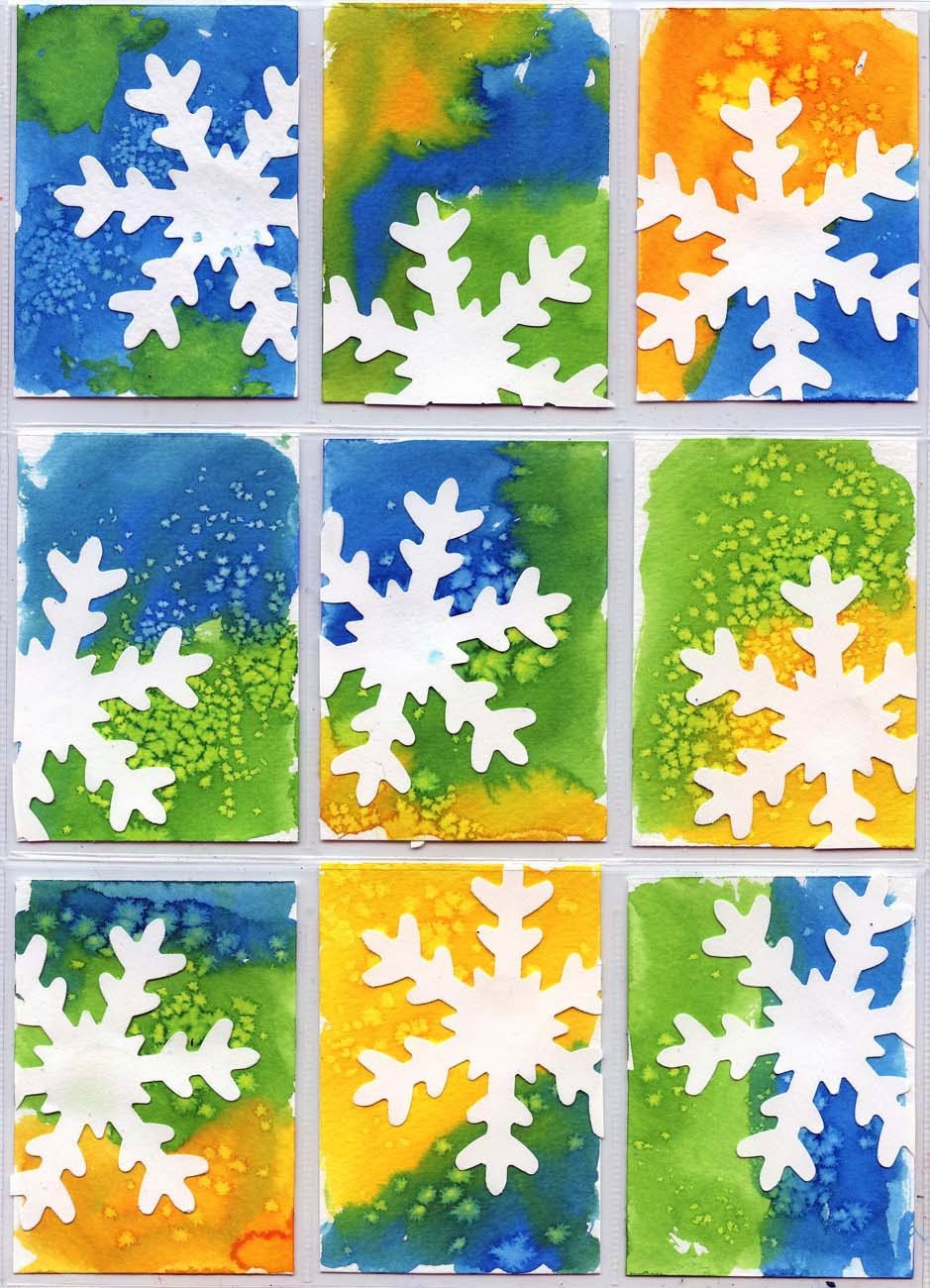 Best ideas about Art Projects For Kids . Save or Pin Snowflake ATC Art Projects for Kids Now.