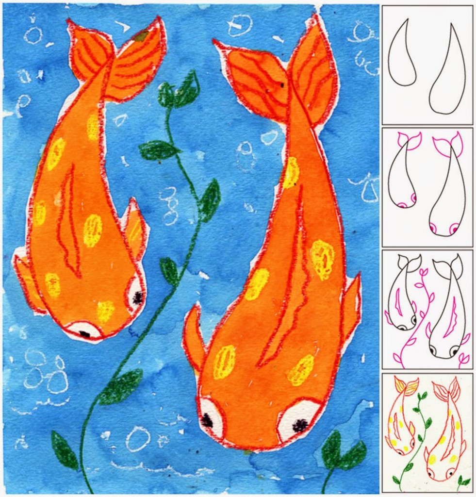 Best ideas about Art Projects For Kids . Save or Pin Koi Fish Painting Art Projects for Kids Now.