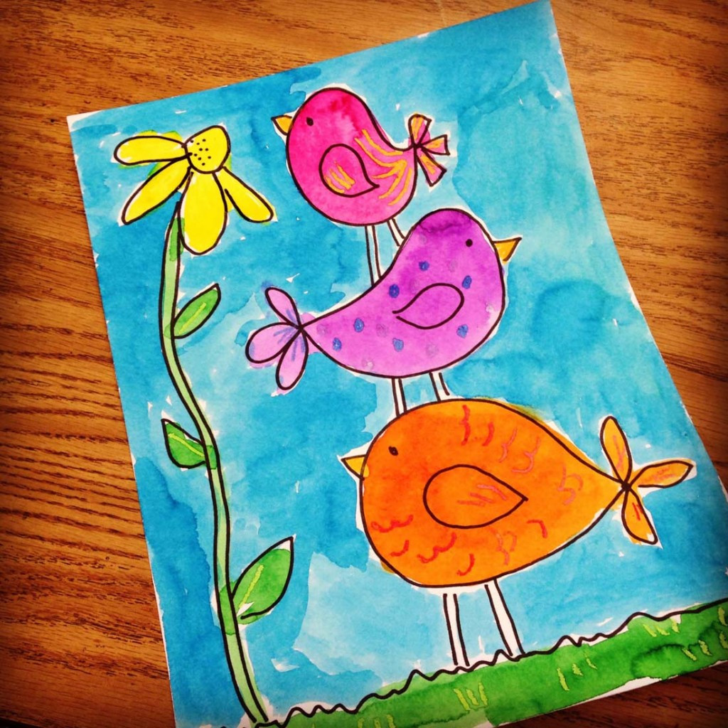 Best ideas about Art Projects For Little Kids . Save or Pin Little Bir s Watercolor Painting Art Projects for Kids Now.