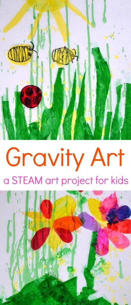 Best ideas about Art Projects For Little Kids . Save or Pin Gravity Painting Spring Collage a Fun STEAM Art Project Now.