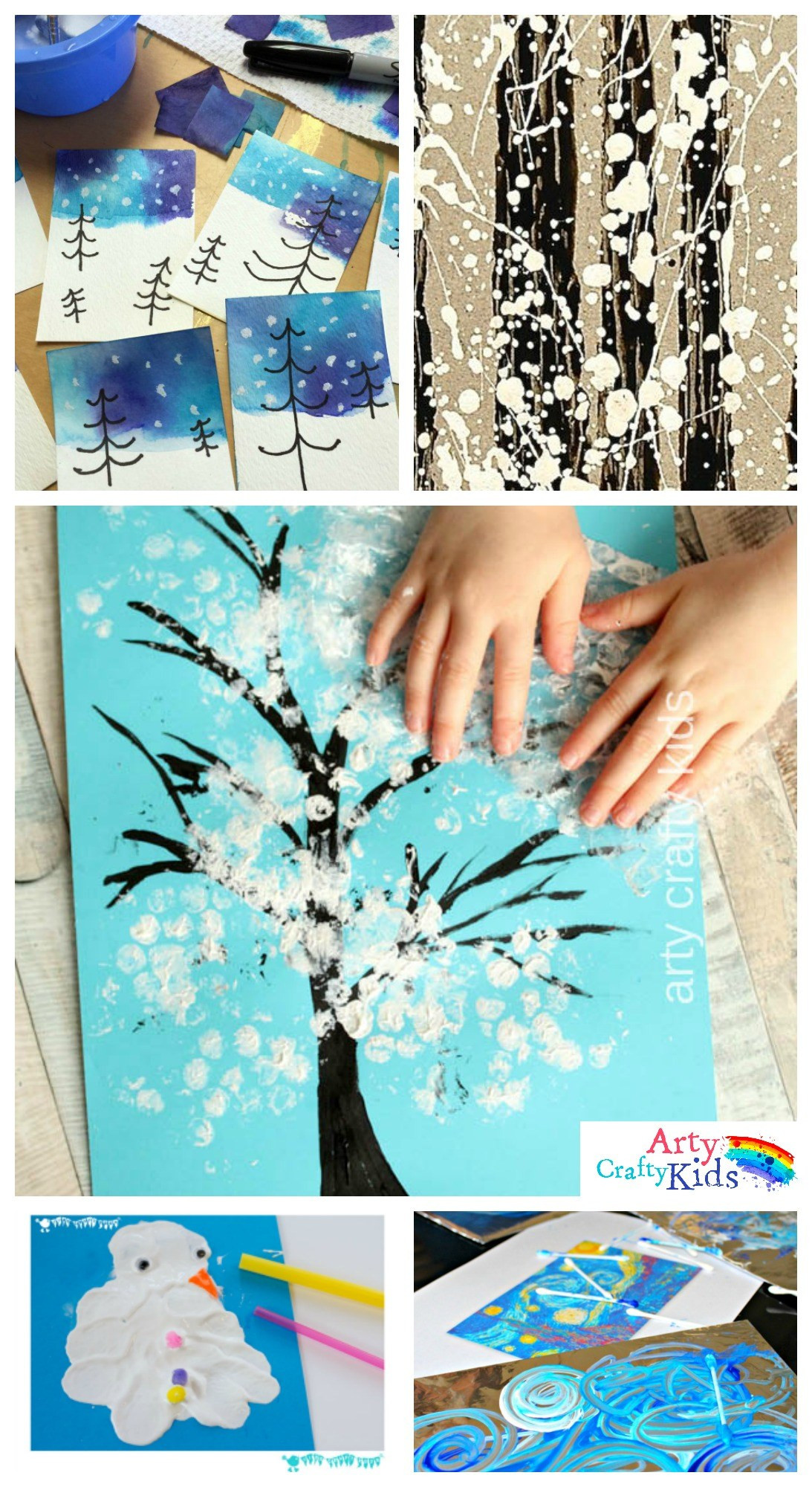 Best ideas about Art Projects For Little Kids . Save or Pin 14 Wonderful Winter Art Projects for Kids Arty Crafty Kids Now.