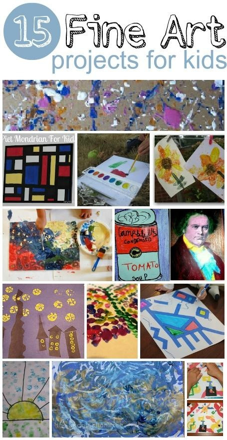 Best ideas about Art Projects For Little Kids . Save or Pin 15 Fine Art Projects for Kids Now.