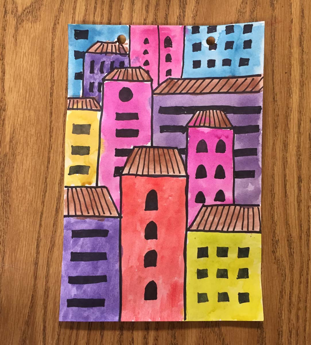 Best ideas about Art Projects For Little Kids . Save or Pin Overlapping Buildings Art Projects for Kids Now.