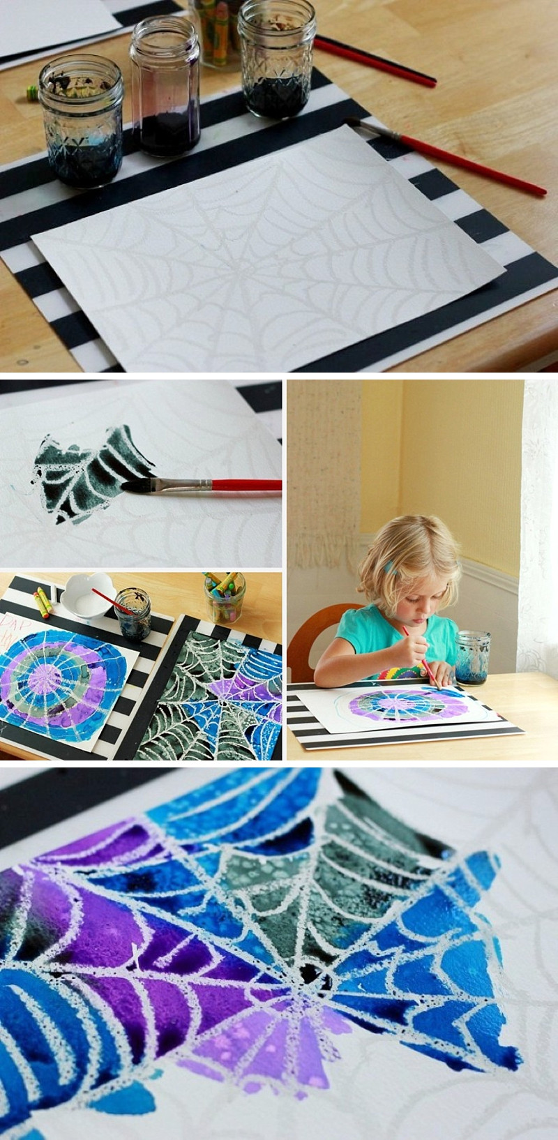 Best ideas about Art Projects Kids . Save or Pin Spider Web Art Project A Simple and Beautiful Now.