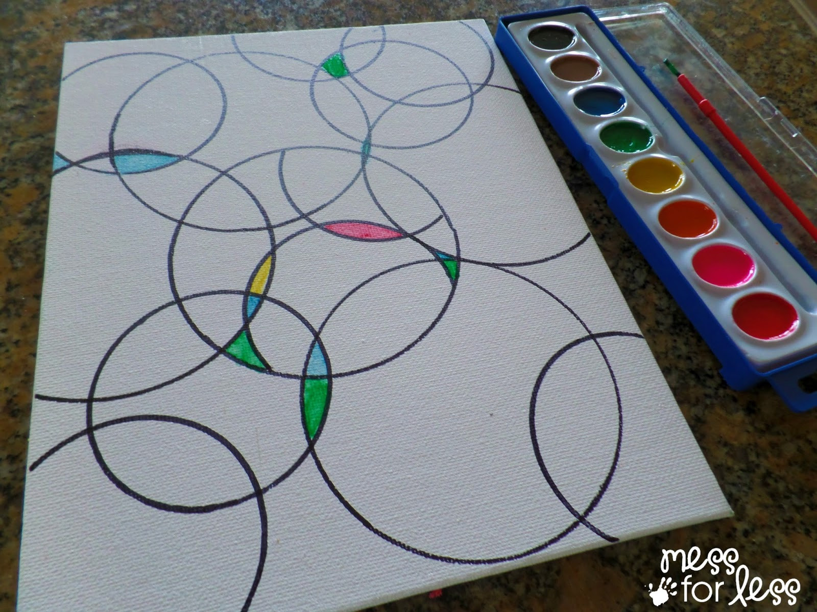 Best ideas about Art Projects Kids . Save or Pin Watercolor Circle Art Mess for Less Now.