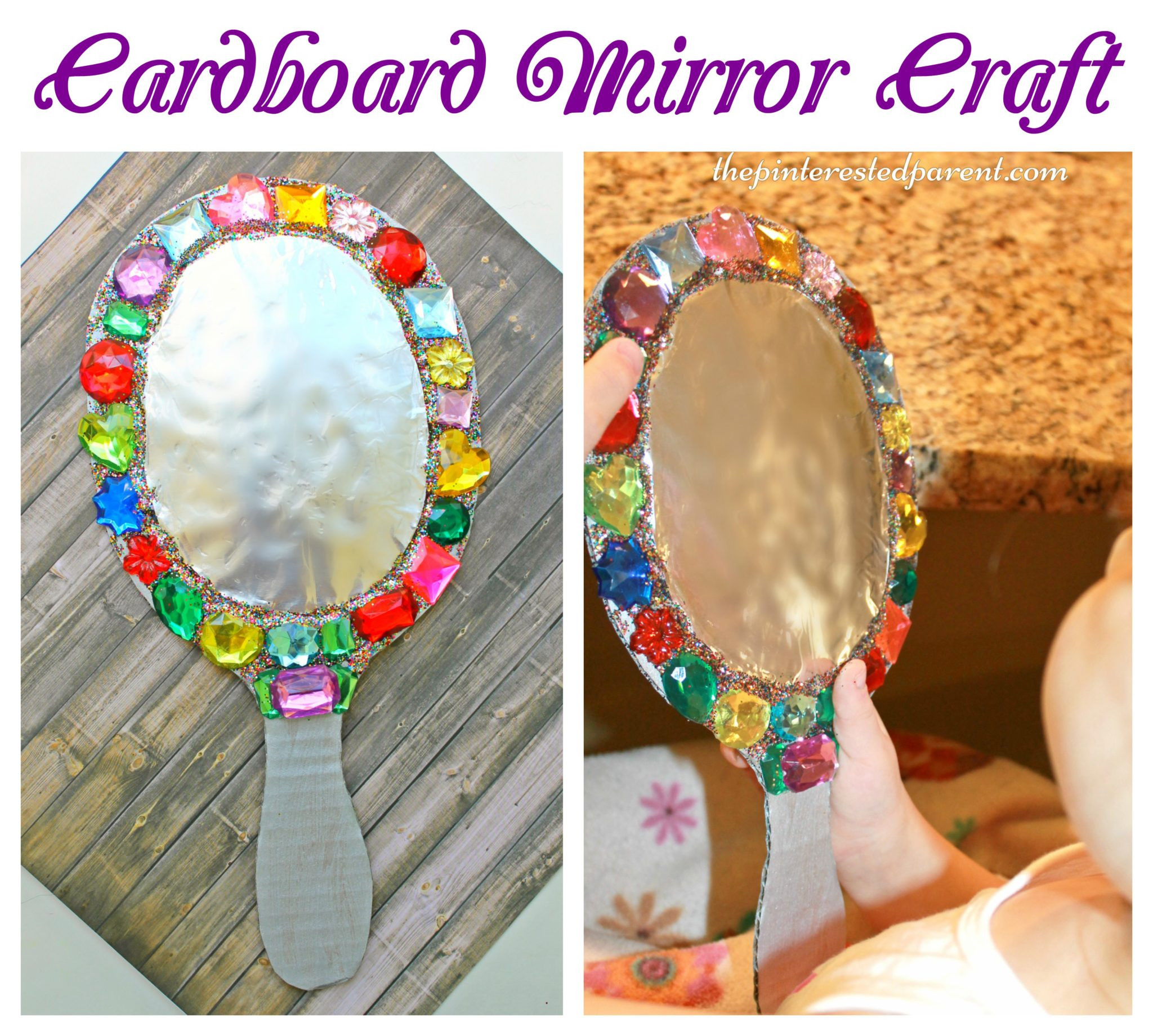 Best ideas about Arts & Crafts For Kids . Save or Pin Jeweled Cardboard Mirror Craft – The Pinterested Parent Now.